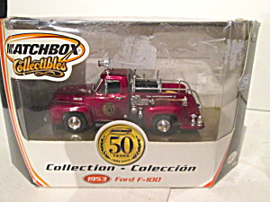 Matchbox Vintage Fire Truck Collection 1953 Ford F-100