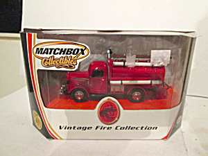 Matchbox Vintage Fire Collection 1939 Bedford Tanker