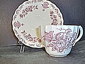 Myott Bouquet Cup And Saucer