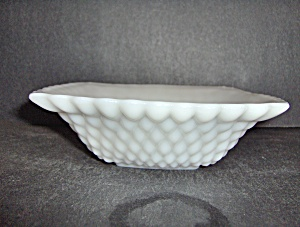 Milk Glass Hobnail Candy Dish