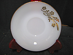 Federal Glass Meadow Gold Saucer .