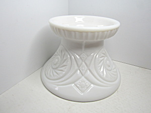Vintage Smith Glass Aztec Milk Glass Punch Bowl Base