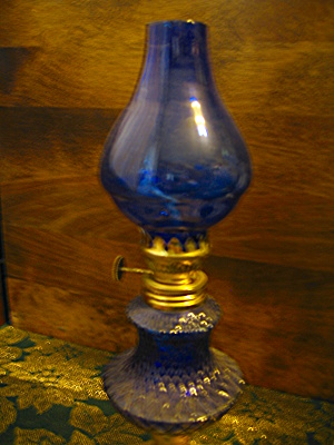 Blue Cobalt Mini Oil Lamp
