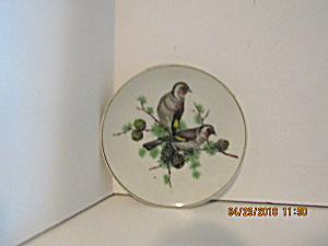 Vintage Japan Two Bird On A Limb Miniature Plate