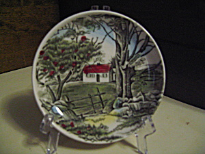 Vintage Mini Friendly Village Stonewall Plate