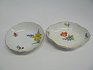 Vintage Round And Oval Floral & Gold Rimmed Dishes