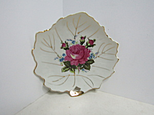 Vintage Japan Rose Leaf Shapes Miniature Plate