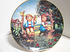 Vintage Hummel Apple Tree Boy And Girl Plate
