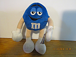 M&m Blue Bendable Plush Stuffed Toy