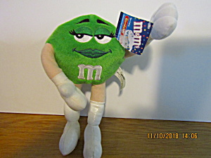M&m Green Bendable Plush Stuffed Toy