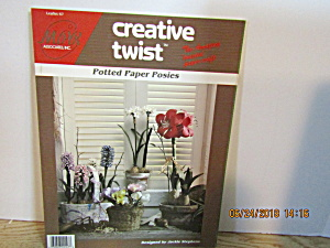 Creative Twist Craft Paper Book Potted Paper Posies