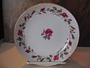 Moss Rose Diamond China 6.5 In. Dessert Plate