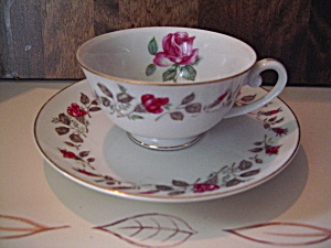 Moss Rose Diamond China Cup And Saucer Sets