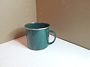 Enamelware Vintage Green Coffee Cup