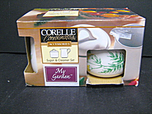 Corelle My Garden Sugar And Creamer Set