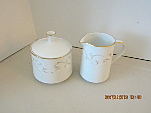 Vintage Noritake Duetto Creamer & Covered Sugar Bowl
