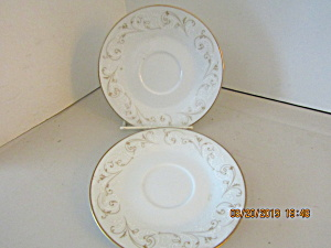 Vintage Noritake Duetto Saucer Set Of Two