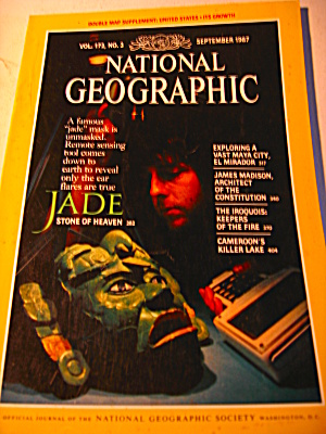 Vintage National Geographic Magazine September 1987