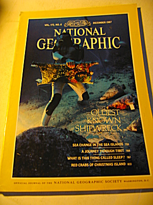 Vintage National Geographic Magazine December 1987
