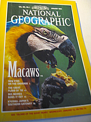 Vintage National Geographic Magazine January 1994