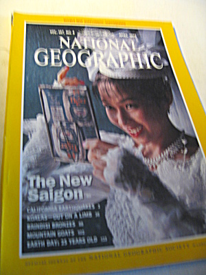 Vintage National Geographic Magazine April 1995