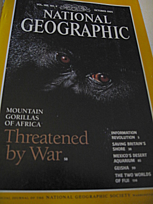 Vintage National Geographic Magazine October 1995