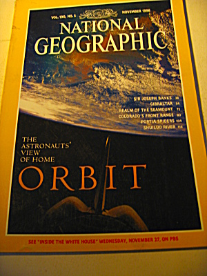 Vintage National Geographic Magazine November 1996