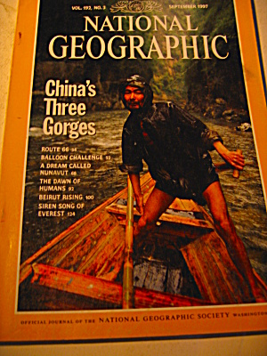 Vintage National Geographic Magazine September 1997