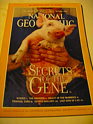Vintage National Geographic Magazine October 1999