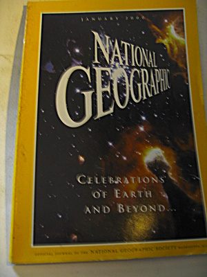 Vintage National Geographic Magazine January 2000,