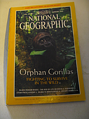 Vintage National Geographic Magazine February 2000