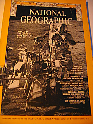 Vintage National Geographic Magazine July 1971 (Image1)