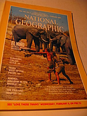 Vintage National Geographic Magazine February 1983.