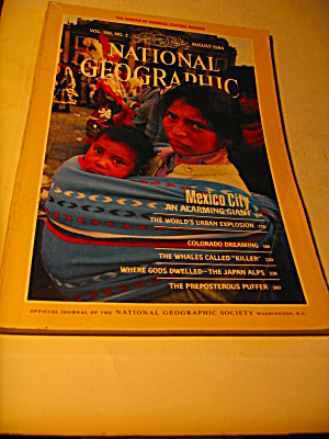 Vintage National Geographic Magazine August 1984