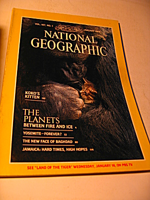 Vintage National Geographic Magazine January 1985