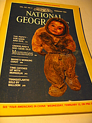 Vintage National Geographic Magazine February 1985