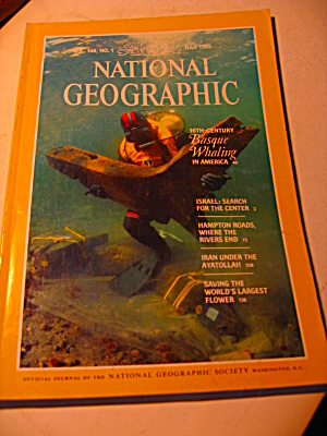 Vintage National Geographic Magazine July 1985