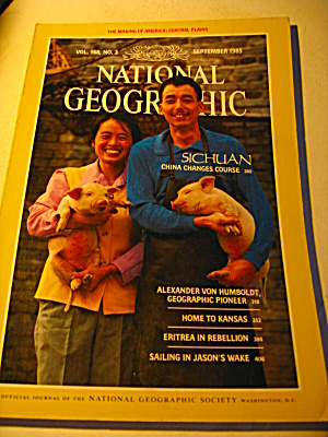 Vintage National Geographic Magazine September 1985