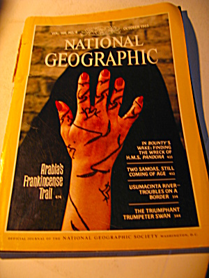 Vintage National Geographic Magazine October 1985