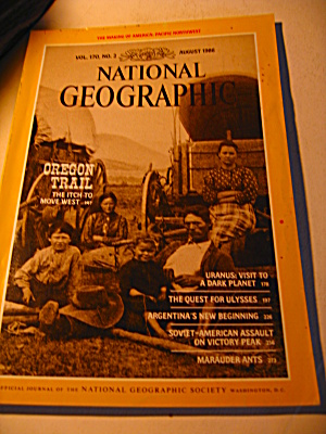 Vintage National Geographic Magazine August 1986