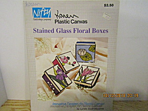 Nifty Plastic Canvas Stained Glass Floral Boxes #552