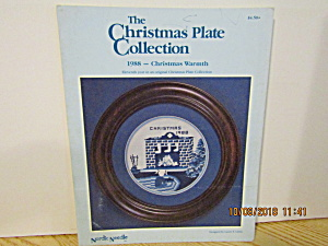 Nordicneedle Plate Collectionchristmas Warmth 1988 #141