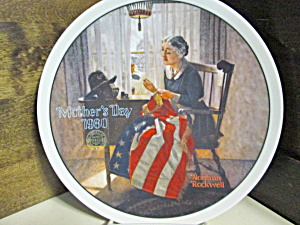 Rockwell's Fifth Mother's Day Plate A Mother's Pride