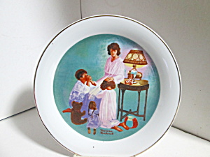 Lego Collector Plate Rockwell Bedtime Prayer