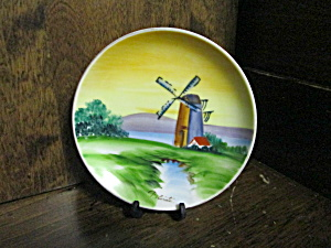 Vintage Occupied Japan Windmill Miniture Plate
