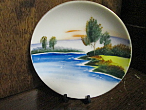 Vintage Occupied Japan Waters Edge Miniture Plate
