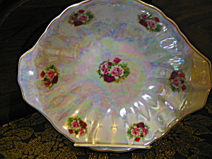 Rose Irridesent Serving/candy/relish Dish
