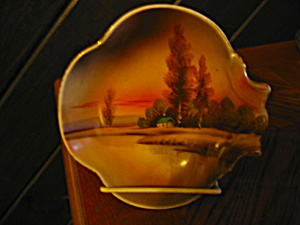 Noritake Handpainted Candy/relish Dish