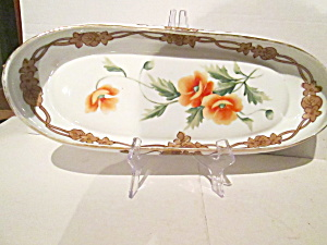 Nippon Handpainted Oval Celery/serving Dish