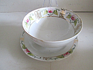 Vintage Hand Painted Nippon Bowl And Underplate